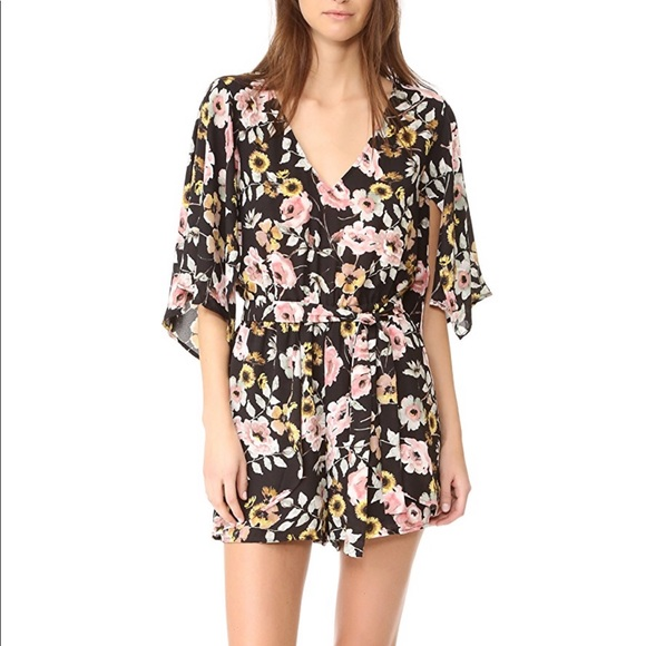 db5b0a2f58a4 Cupcakes and Cashmere Emile Everly Floral Romper